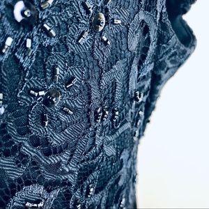 Tadashi Shoji Dresses - Tadashi Shoji blue sequined lace cocktail dress